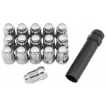12X1.25 Silver QuadBoss Spline Lug Nuts
