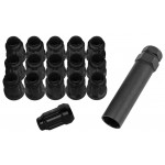 12X1.25 Black QuadBoss Spline Lug Nuts