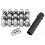 12X1.5 Silver QuadBoss Spline Lug Nuts