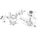 Cylinder, Piston, Crankshaft