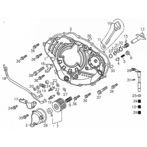 Right Crankcase Cover (Adly ATV 300S Interceptor)
