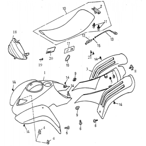 50cc atv body parts