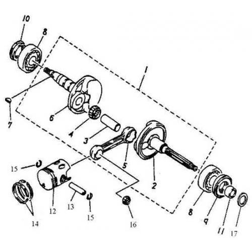 Crankshaft, Piston (Adly GTA-50 2010)