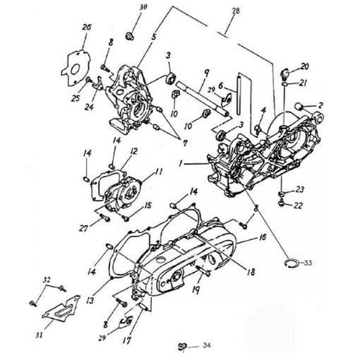 Crankcase (Adly GTA-50 2010)