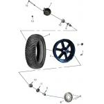 Front Wheel (Aluminum Rim)