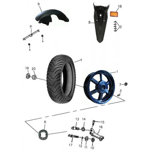 Rear Wheel (Aluminum Rim) (Adly GTA-50 2010)