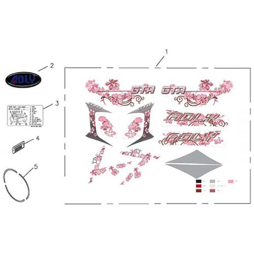 Sticker (Adly GTA-50 2010)