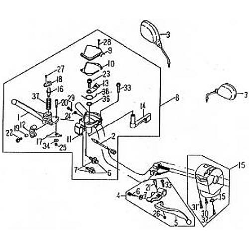 Handle Switch | Lever (Barossa ATV 170)