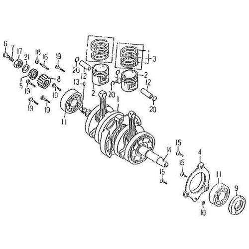 Crankshaft Piston (Barossa Silverhawk 250)