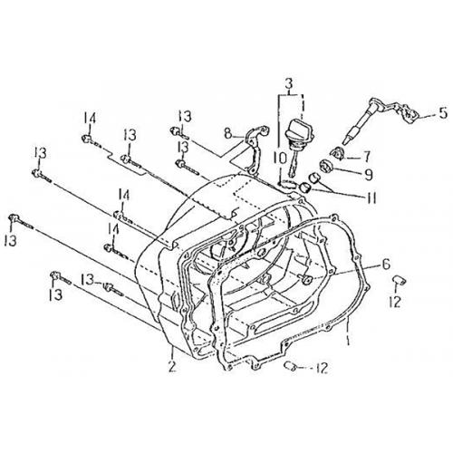 Right Crankcase Cover (Barossa Silverhawk 250)