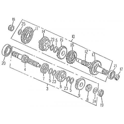 Transmission | Starter (Barossa Silverhawk 250)