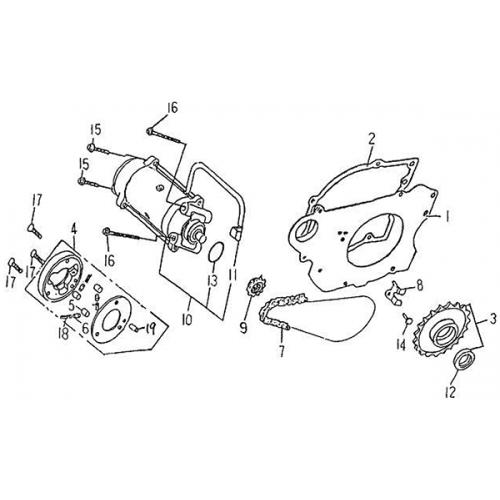 Starting Motor (Barossa Silverhawk 250)