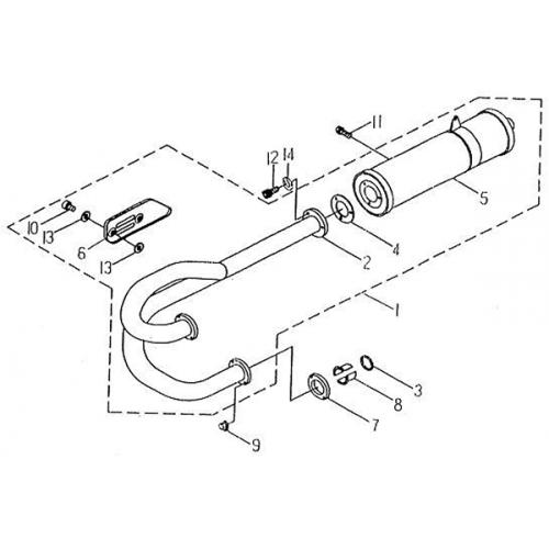 Exhaust   Muffler (Barossa Silverhawk 250)