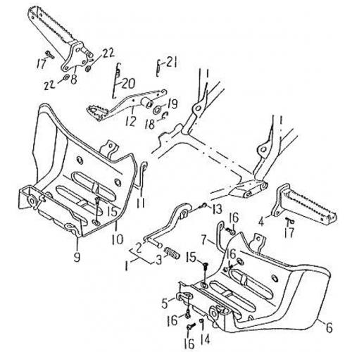 Stand | Footrest (Barossa Silverhawk 250)