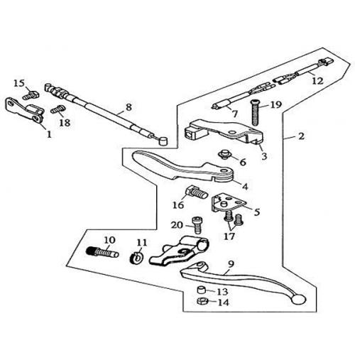 Reverse Gear Lever (Barossa Silverhawk 250)