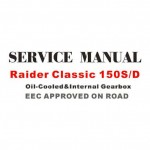Raider Classic 150 Service Manual