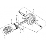 Crank shaft, Piston