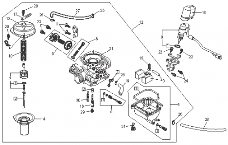 Onan Carburetor Parts Diagram on portable generator wiring diagram carburetor